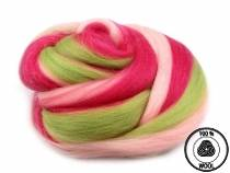 Wool Fleece Roving 20 g combed Colorful