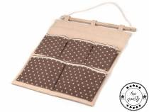 Linen Hanging 5-Pockets Pouch Organizer