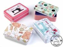 Tin Box Sewing Container