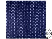 Cotton Scarf with Anchors 65x65 cm