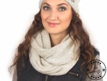 Knitted Snood with Sequins Capu