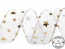 Christmas Wired Ribbon width 39 mm Stars
