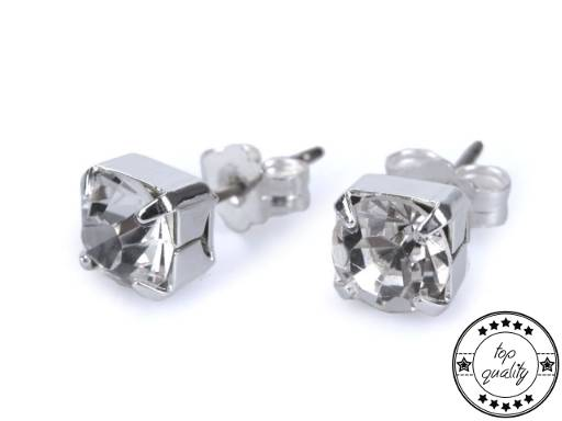 Rhinestone Earrings - Jablonec Custom Jewellery