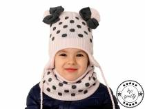 Girls Winter Set Hat with Pom Pom & Snood
