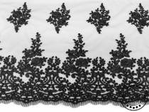 Lace Fabric with Embroidery, double-sided Border