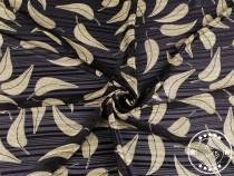Polyester Fabric with Lurex, Leaves
