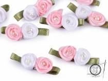 Satin Roses with Pearl Bead 11x30 mm