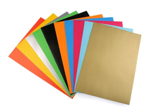 Coloured self-adhesive paper 21x29.7 cm