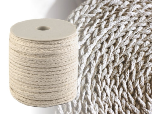 Cotton Candle Wick  Ø3.5 mm braided