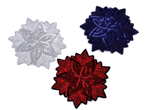 Iron-on Patch Flower with Sequins