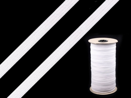 Lingerie Elastic Braid Tape,  width 5mm white CZECH MADE