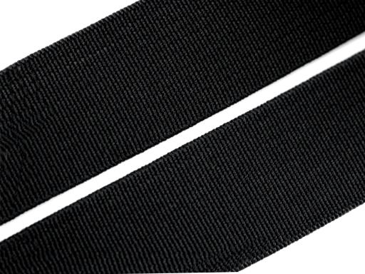 Woven Elastic Tape, width 30mm black CZECH MADE