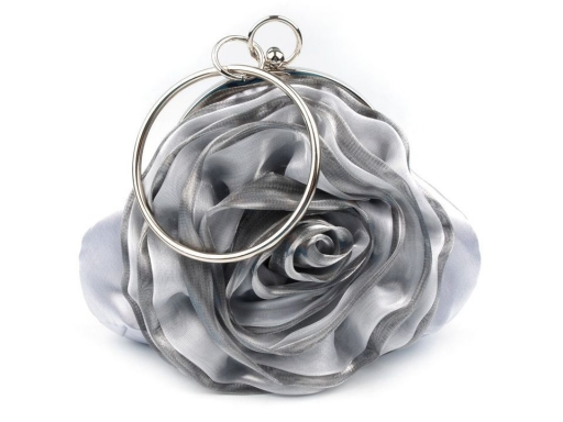 Evening Satin Handbag ROSE