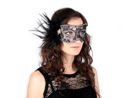 Carnival / Party Eye Mask with Feathers