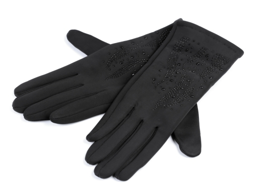Ladies Gloves with Crystals