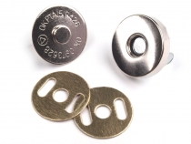 Magnetic Snap Closures Ø18 mm nickel