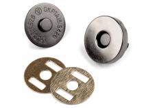 Magnetic Snap Closures Ø18 mm black nickel