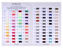 Colour Card for Polyester Sewing Threads PES 40/2 5000Y