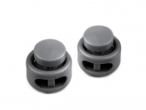 Round 2-hole Cord Lock Stopper Toggles 13x15 mm