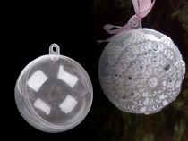 Clear Plastic Fillable Ball Ornament Ø8 cm
