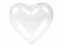 Plastic Heart Ornament 8x8 cm