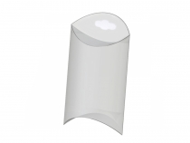 Clear Plastic Pillow Box with hang tag 5x7 cm