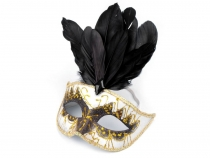 Carnival Mask GLITTERS with feathers