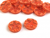 Fancy Plastic Buttons for children´s clothing, size 24