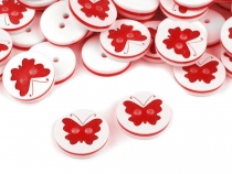 Button with Butterfly 24