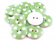 Wooden Button DOTS size 40