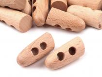 Wood Horn Toggle Button 30 mm