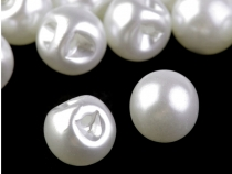 Sew-on Faux Pearl Bead / Button Ø14 mm