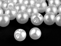 Sew-on Faux Pearl Bead / Button Ø8 mm