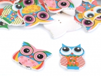 Wooden Decorative Button Owl