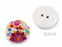 Decorative Wooden Button Flowers mix