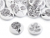 Decorative Wooden Button Plants