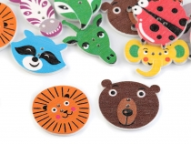 Decorative Wooden Button Animals