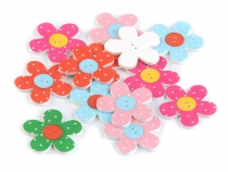 Decorative Wooden Button Flower