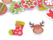 Decorative Christmas Wooden Button