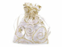 Organza Gift bag 6.5x9 cm with glitters