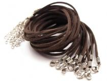 Imitation Leather Necklace Cord with Extension Chain & Clasp 0,3x45cm