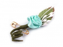 Silk Wedding Flower 20x50mm with safety pin