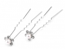 Rhinestone Studded Hair Pin Ø10 mm