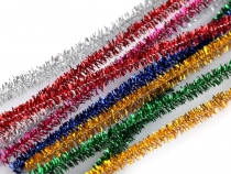 Fuzzy Chenille Wire Sticks with lurex Ø6mm length 30cm