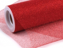 Decorative Tulle Fabric with Glitters, width 15 cm; 9 m length