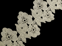 Embroidered Lace Trim width 140 mm Flowers