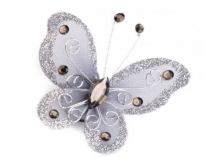 Applique Butterfly to sew on 5x5.5 cm with safety pin