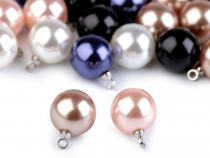 Faux Pearl Bead with Loop Ø11 mm