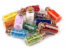 "Glass Seed Beads ""Rocaille"" 2x6 mm  in a glass jar"