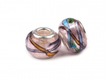 Glass Charm Beads  9x13 mm